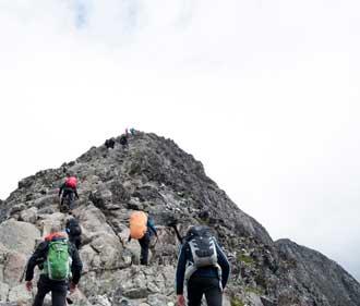 Hiking with BiT Bible School in Norway